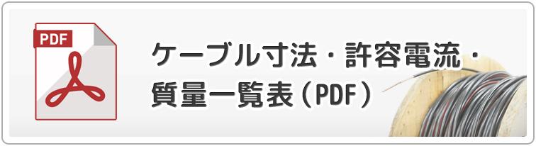 ケーブル寸法・許容電流・室料一覧表(PDF)